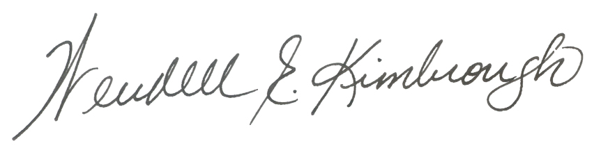 Wendell Kimbrough Signature