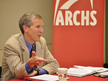 U.S. EPA Region 7 Administrator Karl Brooks speaks at an ARCHS' hosted forum